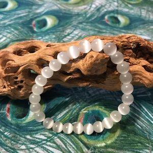 Selenite White Healing Bead Bracelet - Neg…
